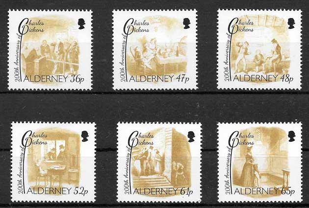 sellos arte Alderney 2012