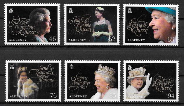 sellos personalidades Alderney 2017