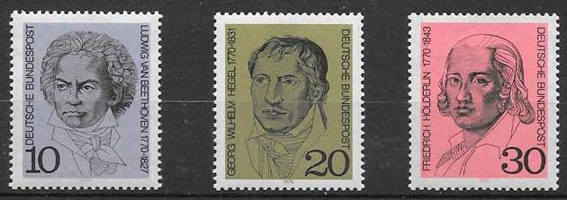 sellos personalidades Alemania 1970
