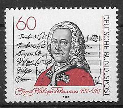 sellos personalidad 1981 Alemania