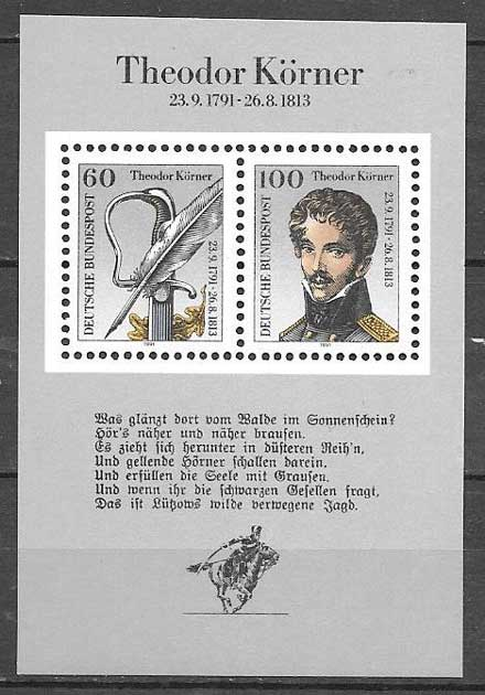 sellos personajes Alemania 1991