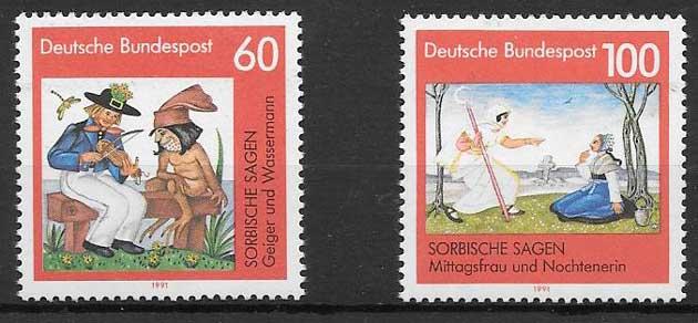 sellos arte Alemania 1991