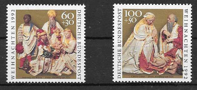sellos navidad Alemania 1992