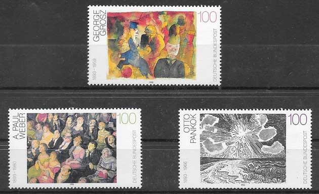 Filatelia arte Alemania 1993