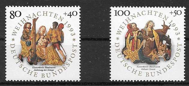 Filatelia navidad Alemania 1993