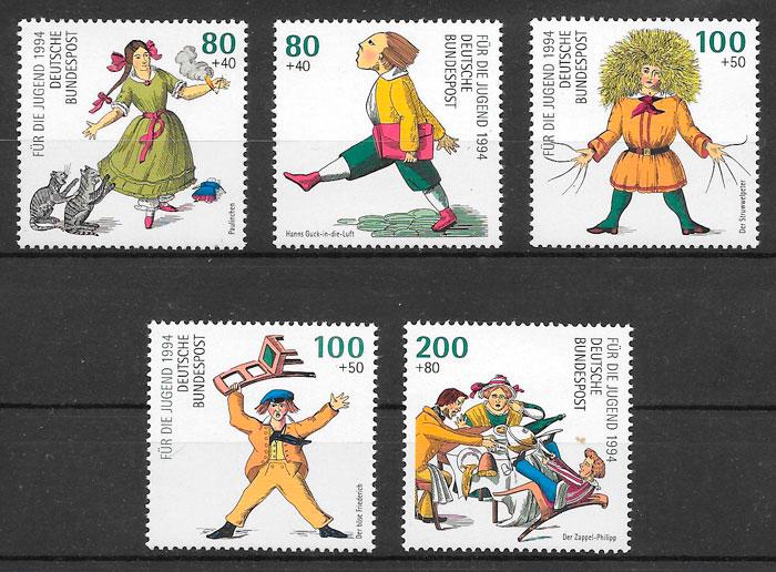 colección sellos cuentos Alemania 1994