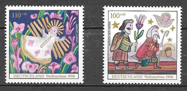 sellos navidad 1998 Alemania