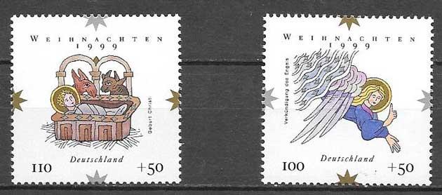 sellos navidad Alemania 1999