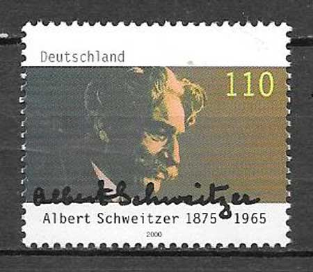 sellos colección personajes Alemania 2000