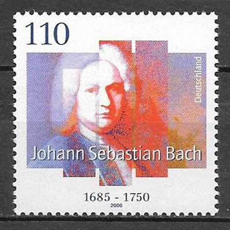 sellos colección personalidad Alemania 2000