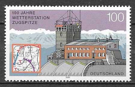 Filatelia arquitectura Alemania 2000
