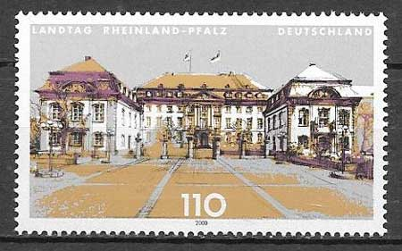 sellos colección arquitectura Alemania 2000