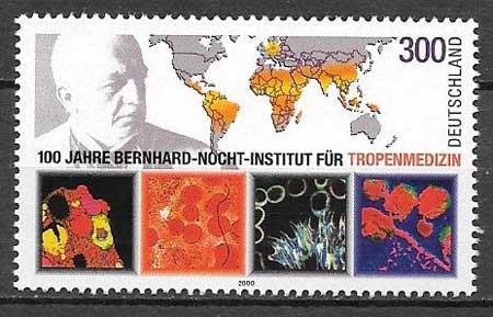 colección de sellos arte Alemania 2000