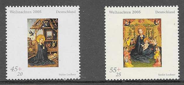 sellos navidad Alemania 2005