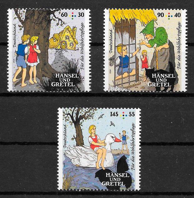 coleción sellos cuentos Alemania 2014