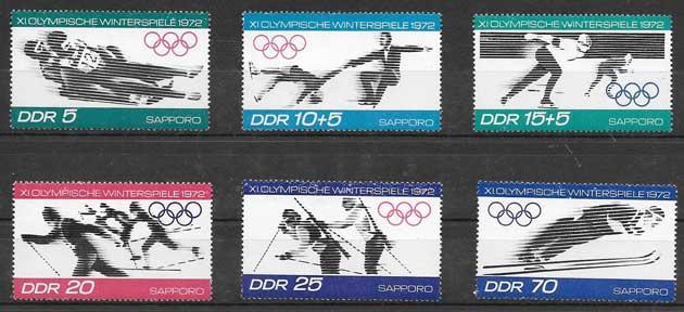 sellos deporte Alemania Oriental 1971