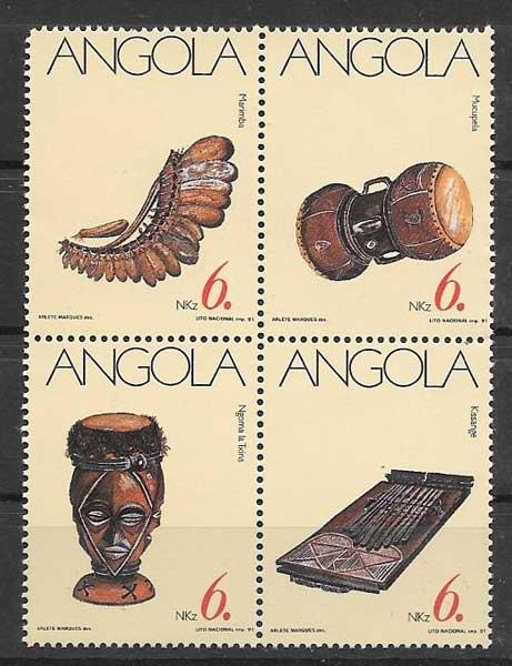 sellos arte Angola 1991