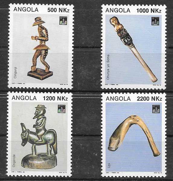 sellos colección arte Angola 1994