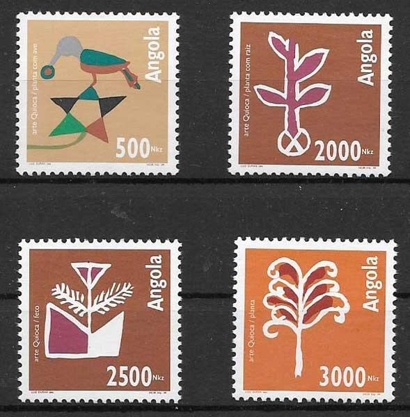 sellos colección arte 1994 Angola