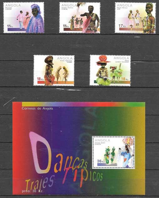sellos colección arte 2001 Angola