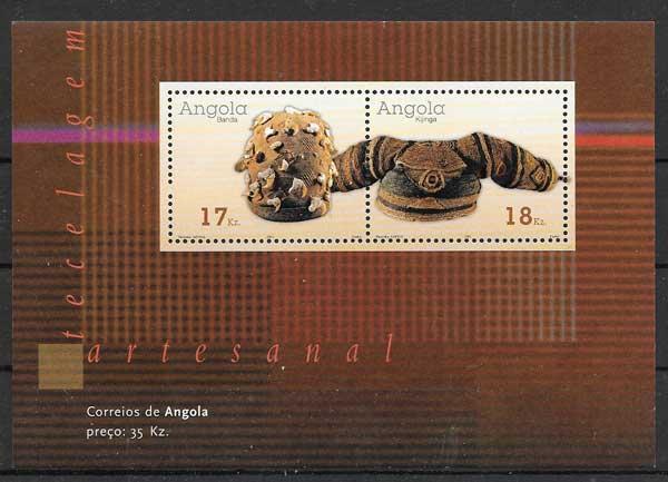 colección sellos arte Angola 2001