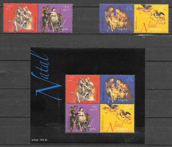 sellos colección navidad Angola 2003
