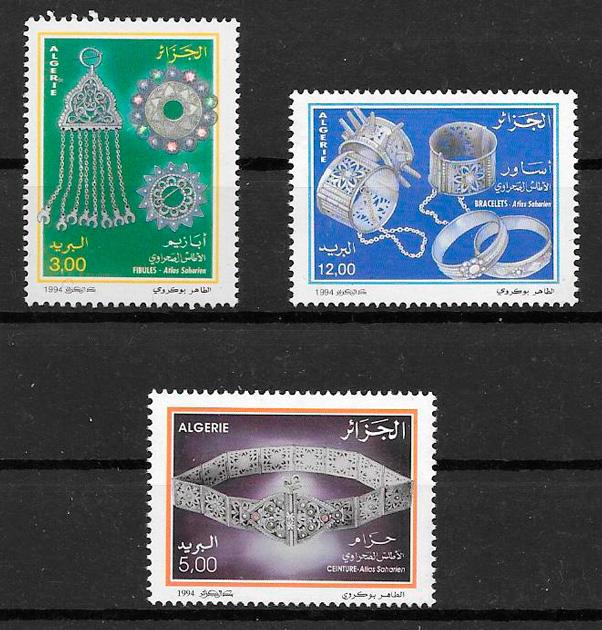 colección sellos arte Argelia 1994