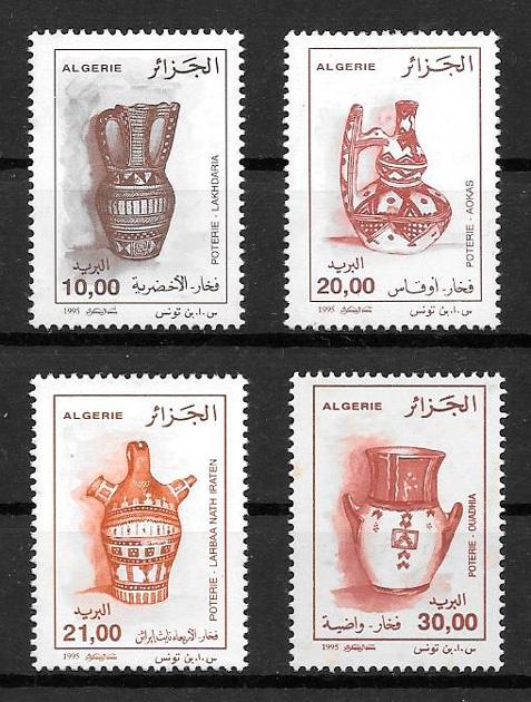 colección sellos arte Argelia 1995