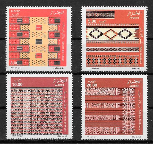 colección sellos arte Argelia 1997