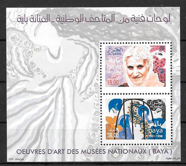 colección sellos arte Argelia 2008