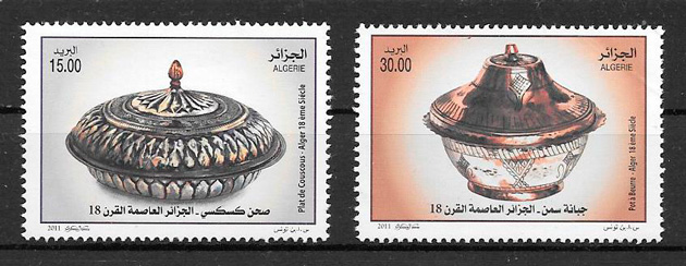 sellos arte Argelia 2011