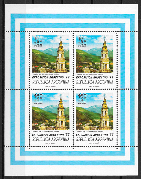 sellos arquitectura Argentina 1977
