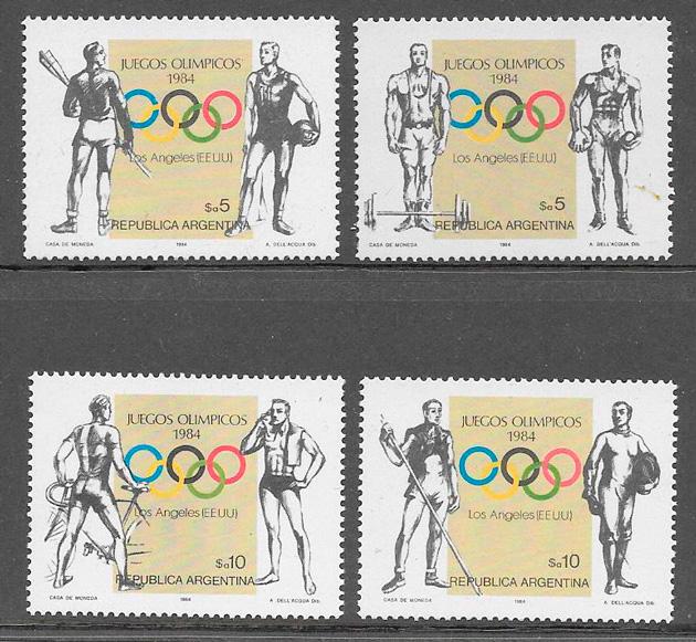 colección sellos deporte Argentina 1984