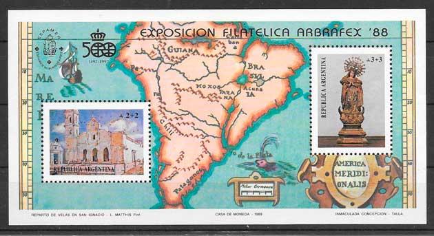 sellos arte Argentina 1988