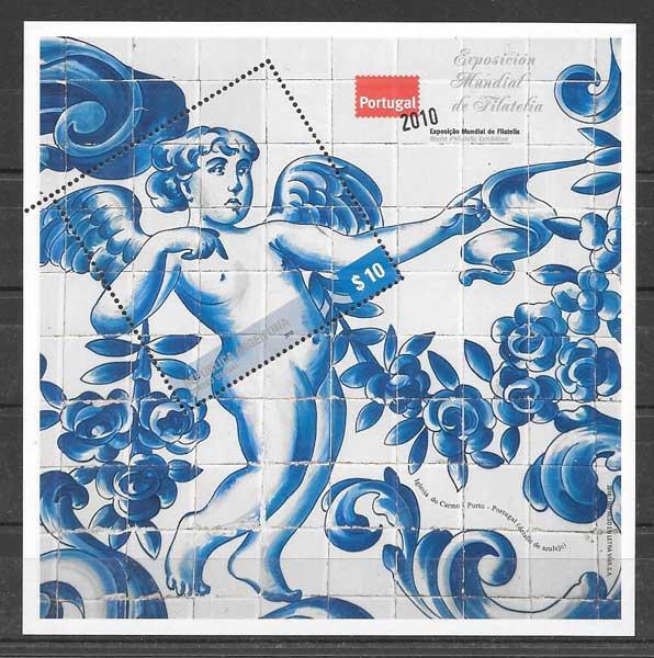 filatelia colección arte Argentina 2010