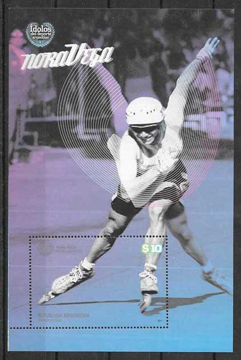 filatelia colección deporte Argentina 2011