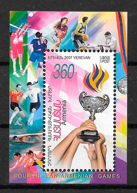 sellos deporte Armenia 2007