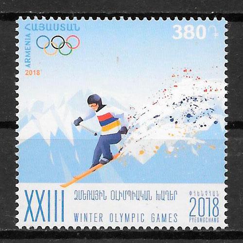filatelia colección Armenia 2018 deporte
