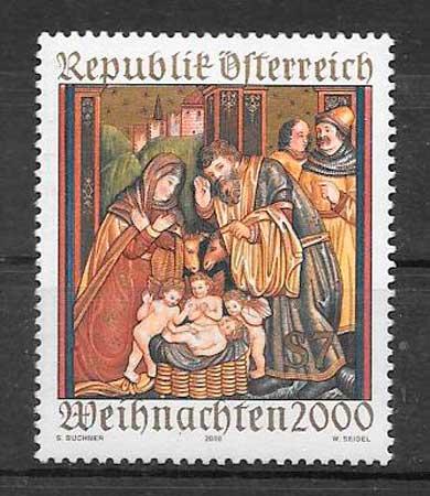 sellos navidad Austria 2000