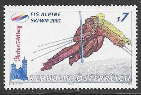 Filatelia deporte Austria 2000
