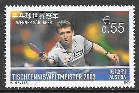 Colección sellos Austria deporte