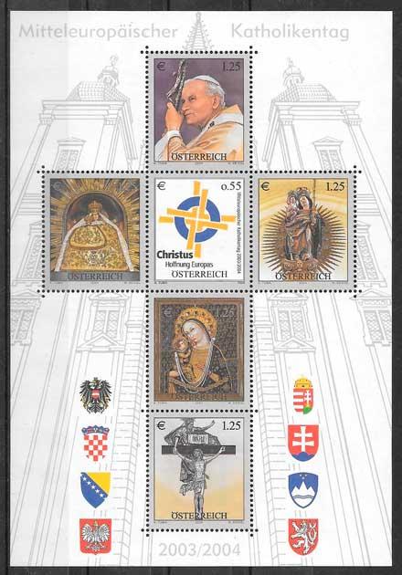 sellos colección arte Austria 2004