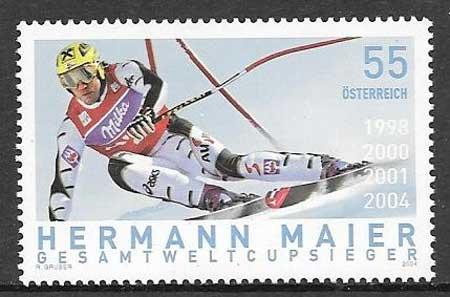 colección sellos deporte Austria 2004