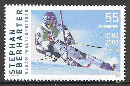 sellos colección deporte Austria 2005