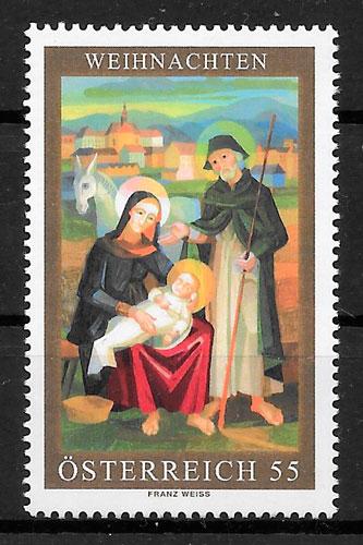 sellos navidad Austria 2006