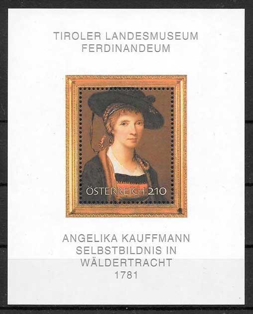 filatelia colección arte Austria 2007