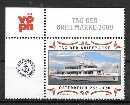 colección sellos transporte Austria 2009
