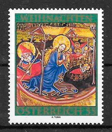 sellos navidad Austria 2010