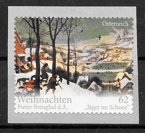 sellos navidad Austria 2012