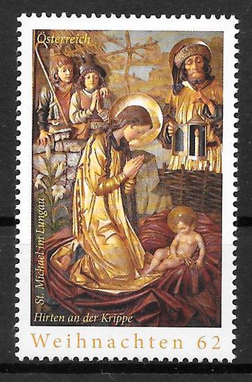 sellos navidad Austria 2013
